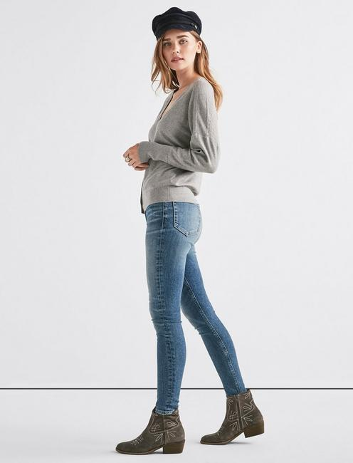 DOLMAN SLEEVE CARDIGAN, HEATHER GREY