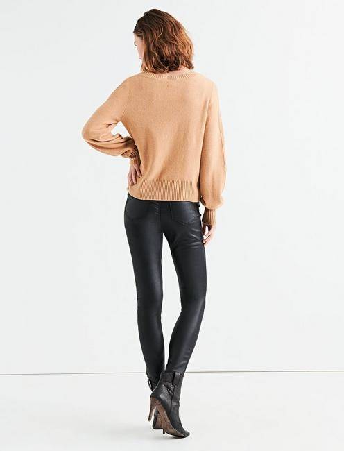 CABLE STITCH PULLOVER, CAMEL