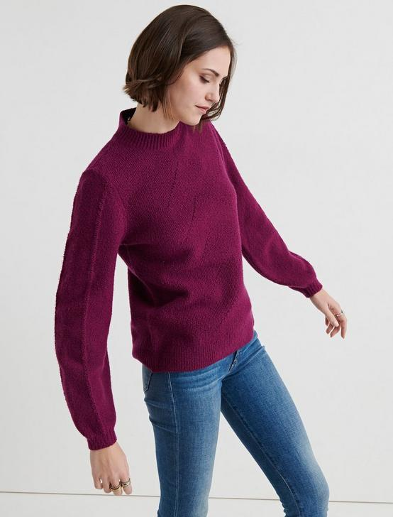 STITCH MOCK NECK, MAGENTA, productTileDesktop
