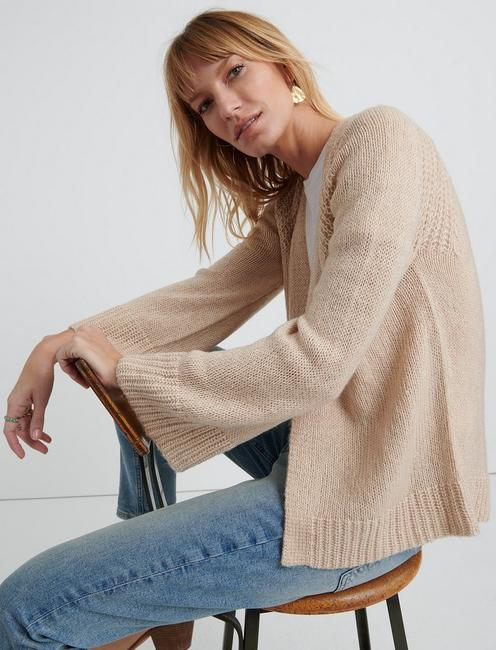 TIE FRONT CARDIGAN, MELLOW ROSE