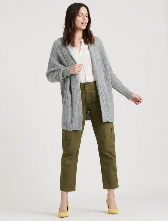 COCOON CARDIGAN, GREY, productTileDesktop