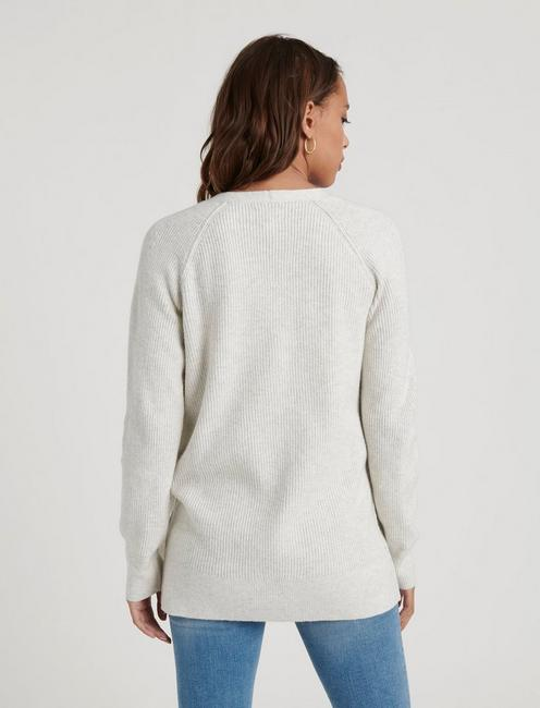 POCKET CARDIGAN, LT HEATHER GREY