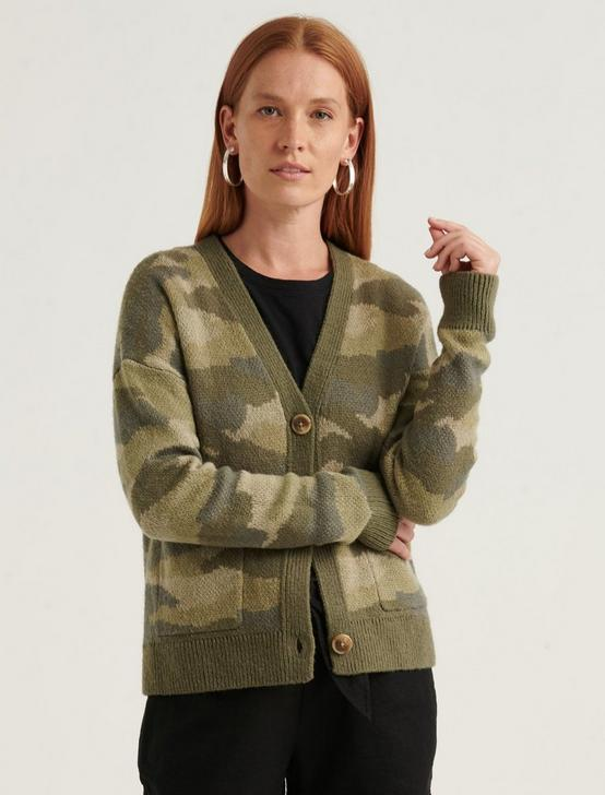 CAMO CARDIGAN, , productTileDesktop