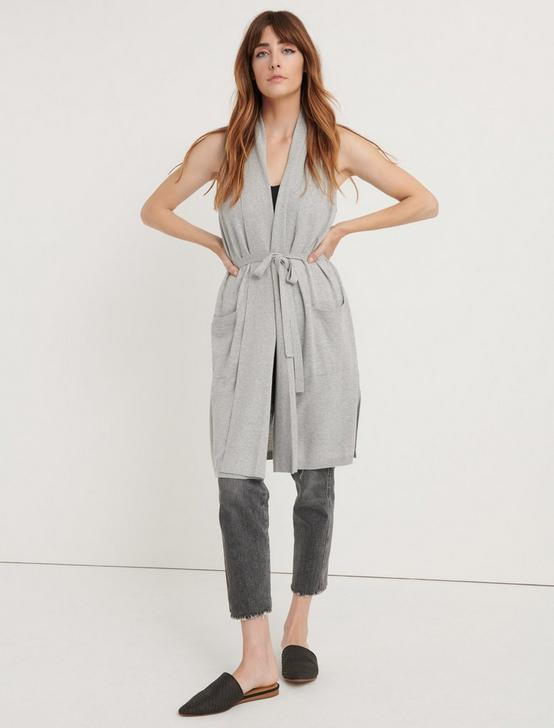 SWEATER DUSTER VEST, HEATHER GREY, productTileDesktop