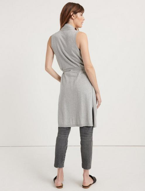 SWEATER DUSTER VEST, HEATHER GREY