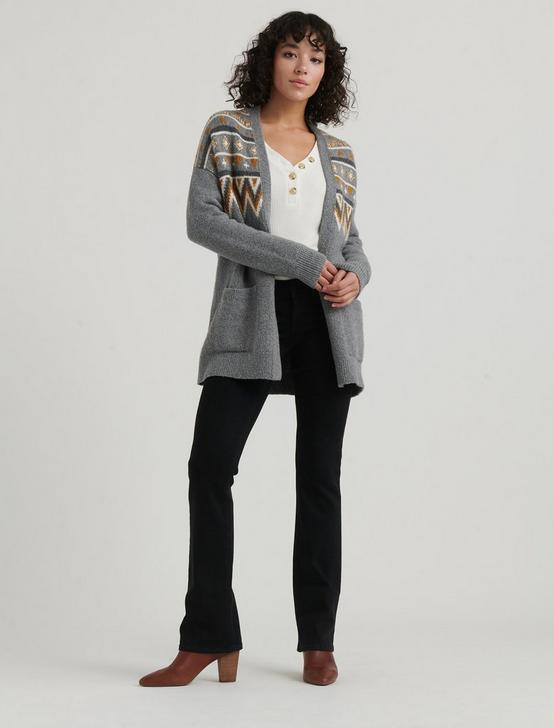 FAIR ISLE CARDIGAN, GREY MULTI, productTileDesktop