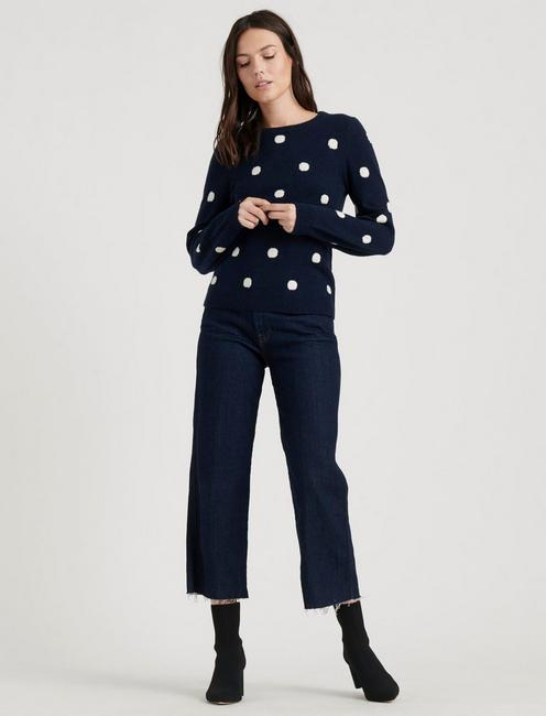 DOT PULLOVER, NAVY MULTI