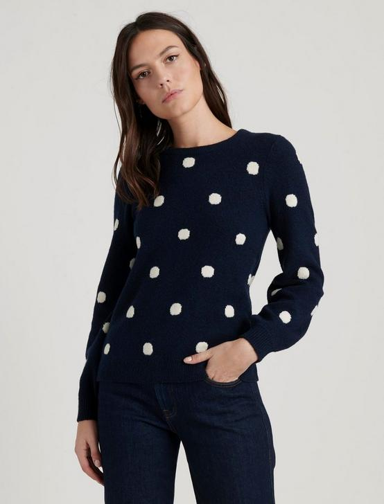 DOT PULLOVER, NAVY MULTI, productTileDesktop