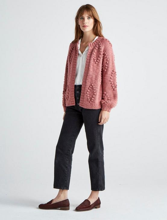 BAUBLE CARDIGAN, #6516 DUSTY ROSE, productTileDesktop