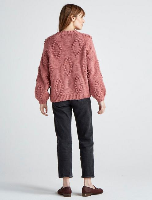 BOBBLE CARDIGAN, #6516 DUSTY ROSE
