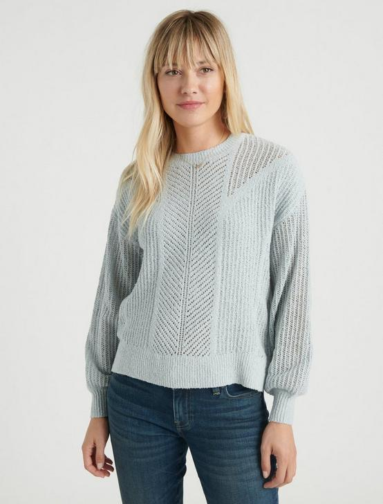 OPEN STITCH PULLOVER, MINT, productTileDesktop