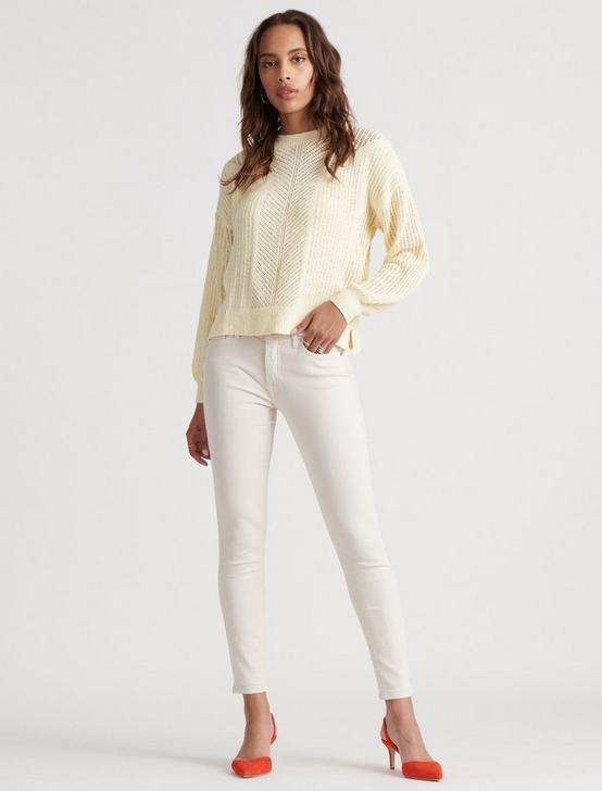 OPEN STITCH PULLOVER, LIGHT YELLOW, productTileDesktop