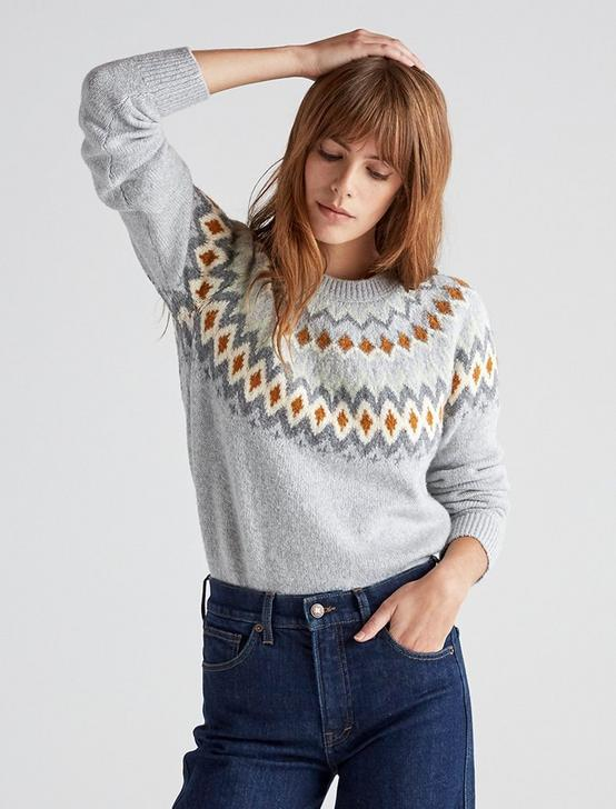 FAIR ISLE PULLOVER, GREY MULTI, productTileDesktop
