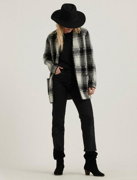 PLAID CARDIGAN, GREY MULTI, productTileDesktop