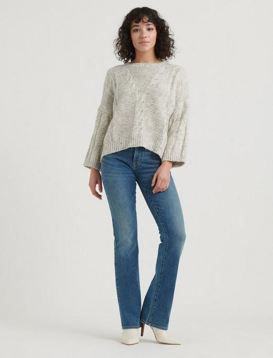 CABLE KNIT PULLOVER, SILVER CLOUD, productTileDesktop
