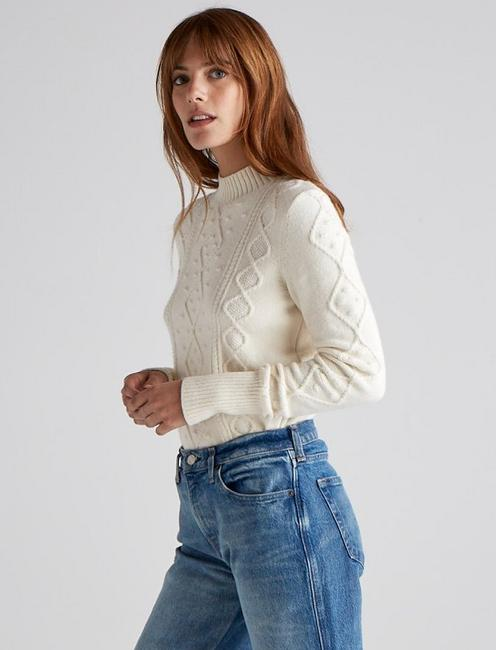 BAUBLE CABLE KNIT PULLOVER, ANTIQUE WHITE