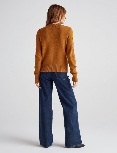 BAUBLE CABLE KNIT PULLOVER, CATHAY SPICE