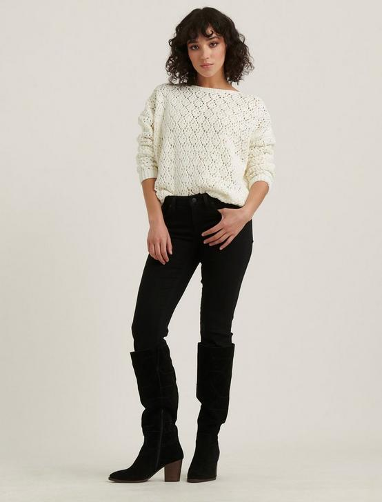 POINTELLE CHENILLE PULLOVER, CREAM, productTileDesktop