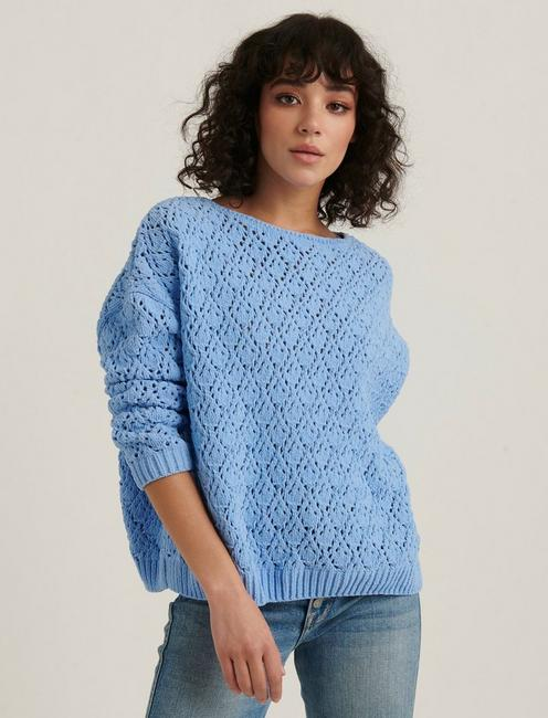 POINTELLE CHENILLE PULLOVER SWEATER,