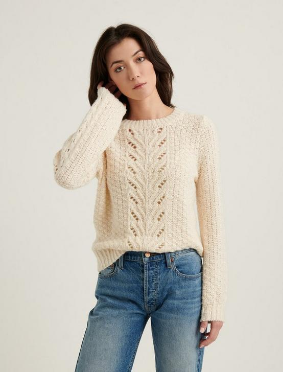 POINTELLE PULLOVER, NATURAL, productTileDesktop
