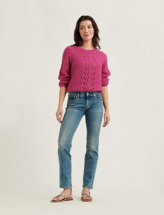 POINTELLE PULLOVER SWEATER, DAHLIA MAUVE, productTileDesktop