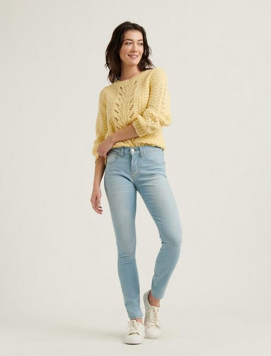 POINTELLE PULLOVER SWEATER, YELLOW, productTileDesktop