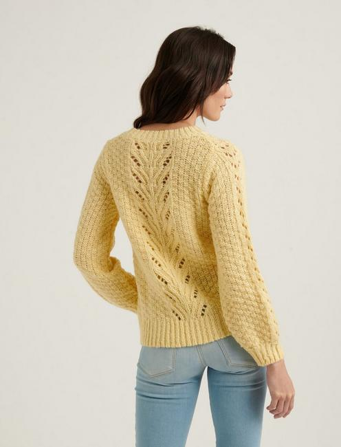 POINTELLE PULLOVER, YELLOW