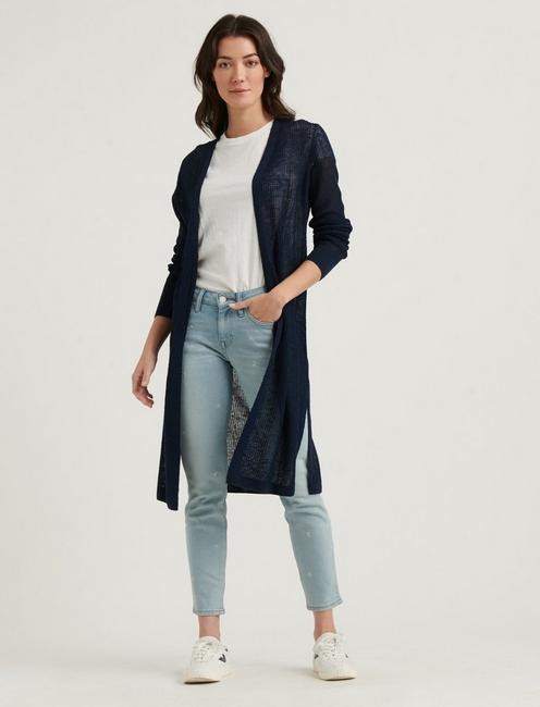 DUSTER CARDIGAN, AMERICAN NAVY