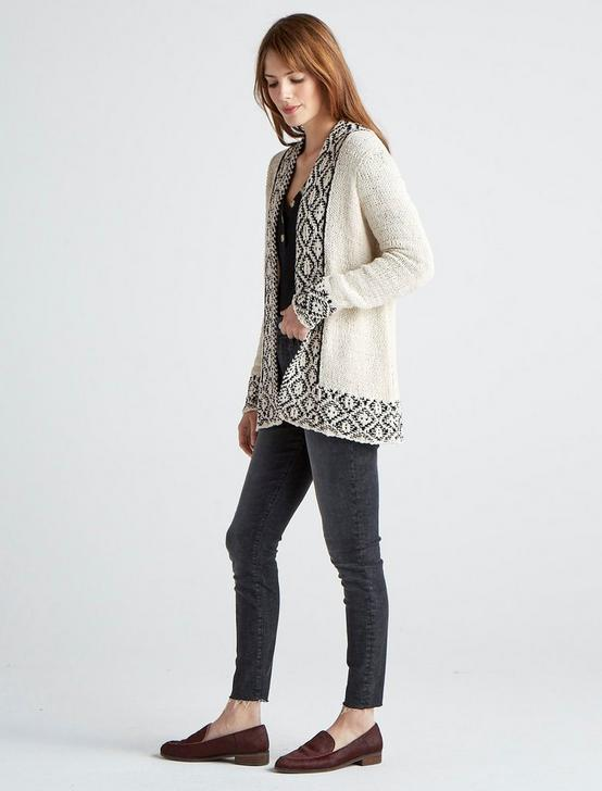 NOVELTY STITCH CARDIGAN, CREAM MULTI, productTileDesktop