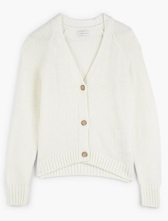 TEXTURED CARDIGAN, MARSHMALLOW, productTileDesktop