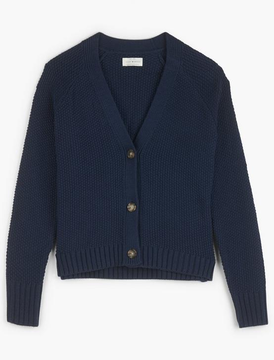 TEXTURED CARDIGAN, AMERICAN NAVY, productTileDesktop