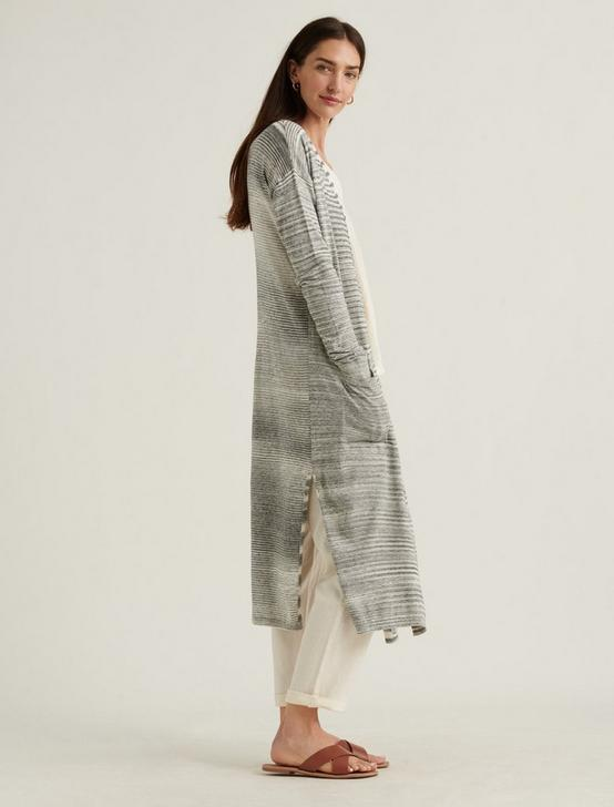 LONG CARDIGAN, GREY STRIPE, productTileDesktop
