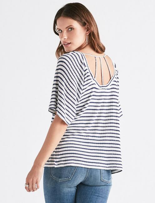 STRIPE DROP NEEDLE TOP,