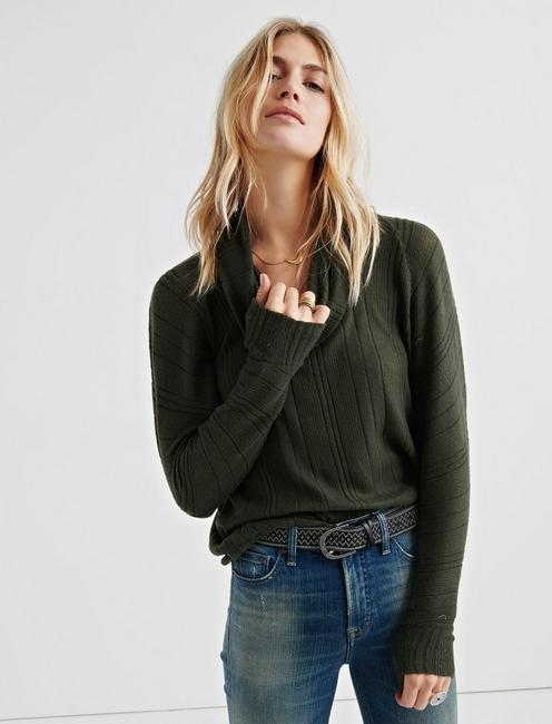 BRUSHED RIB PULLOVER,