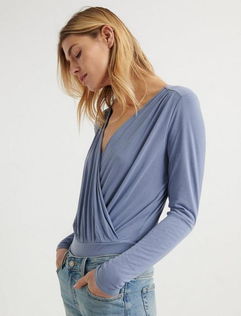 Bell Sleeve Wrap Top