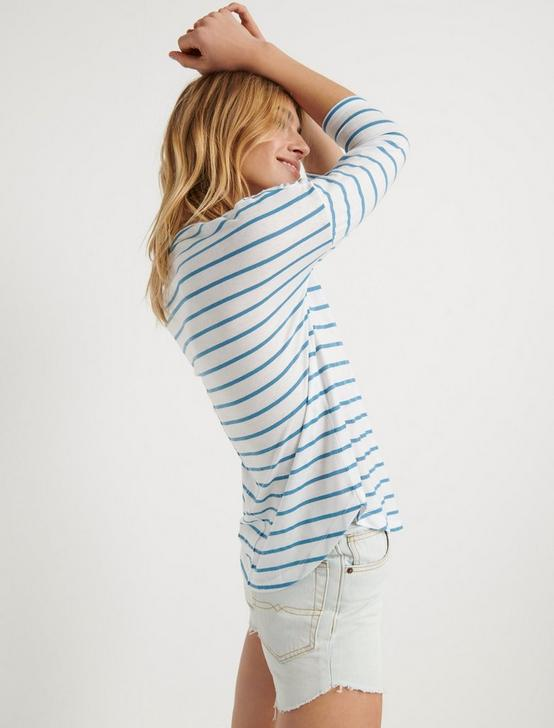 STRIPED BURN OUT HENLEY, BLUE STRIPE, productTileDesktop