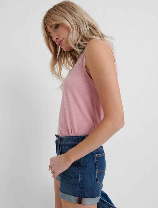 EMBROIDERED TANK, PEONY, productTileDesktop