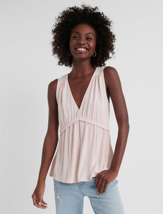 SLEEVELESS ROMANTIC RUFFLE TOP, VEILED ROSE, productTileDesktop