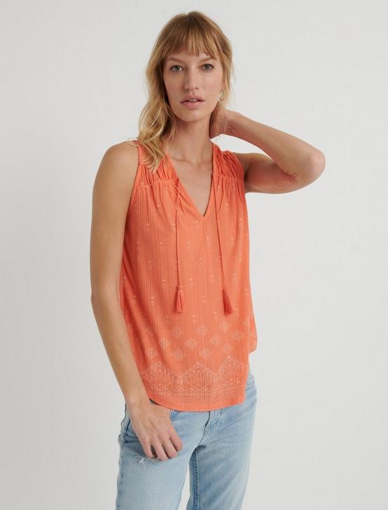DROP NEEDLE TASSEL TANK, #8386 PERSIMMON, productTileDesktop
