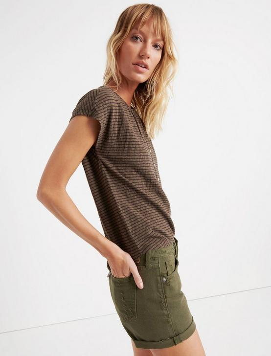 STRIPED HENLEY, OLIVE STRIPE, productTileDesktop