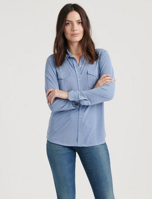 SANDWASH LONGSLEEVE SHIRT, #40100 COLONY BLUE