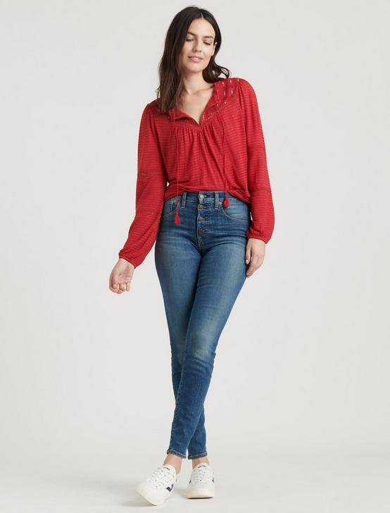 EMBROIDERED PEASANT TOP, CHILI PEPPER, productTileDesktop