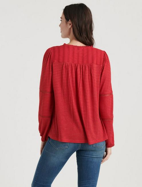EMBROIDERED PEASANT TOP, CHILI PEPPER