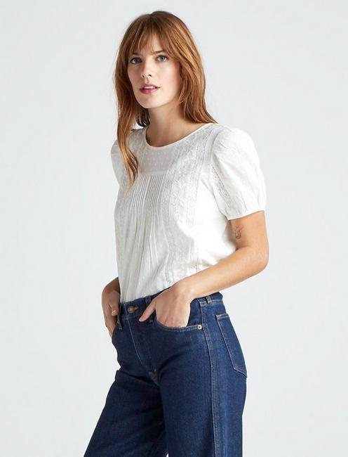 NOVELTY MIX TOP, MARSHMALLOW