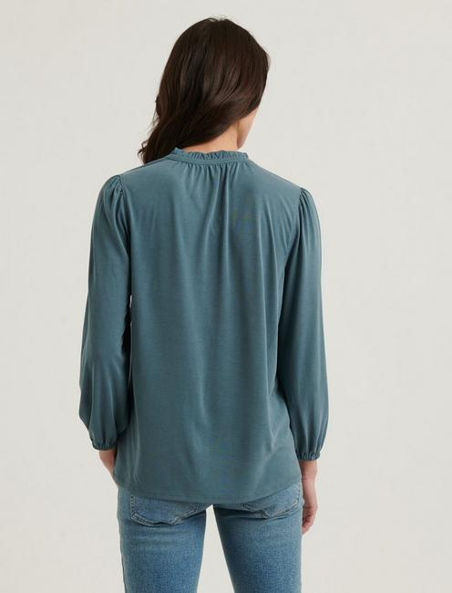 SANDWASH RUFFLED PEASANT TOP, NORTH ATLANTIC