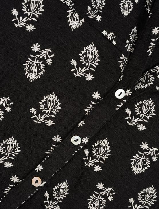 PRINTED HENLEY, BLACK MULTI, productTileDesktop