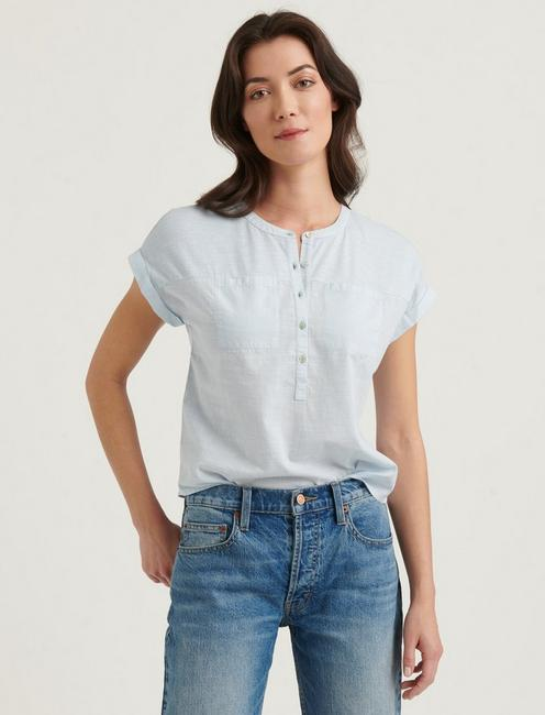 MIXED MEDIA HENLEY TOP, SKYWAY