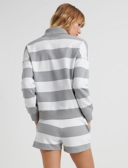 PREPPY SHORT, GREY STRIPE