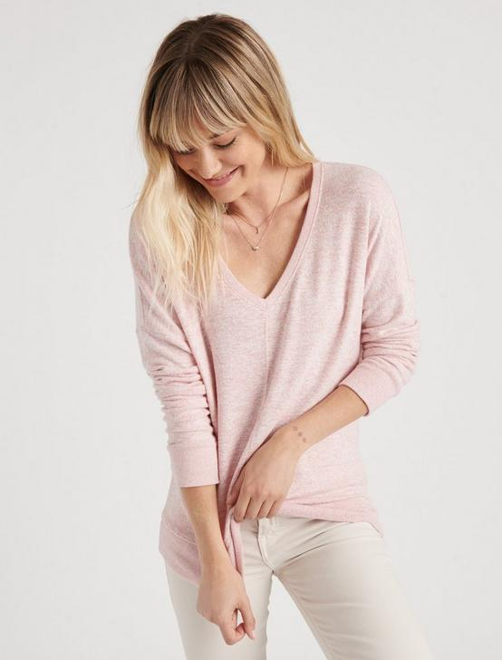 SOLID HACCI DROP SHOULDER TEE, BLUSH, productTileDesktop