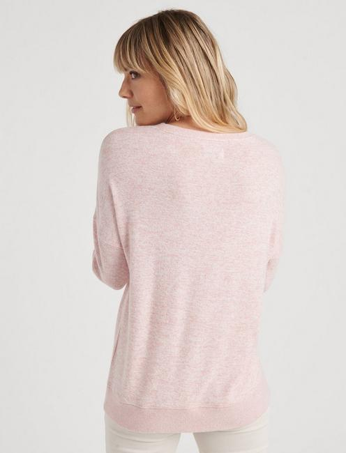 SOLID HACCI DROP SHOULDER TEE, BLUSH